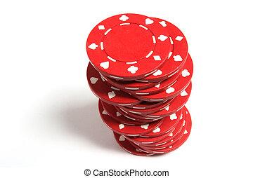 стек, of, покер, чипсы