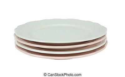 стек, of, фарфор, plates