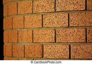 стена, кирпич, красный