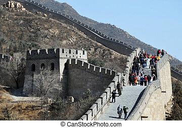 стена, китай, beijing-great