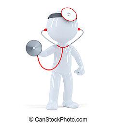стетоскоп, врач