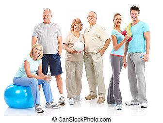 стиль жизни, фитнес, гимнастический зал, здоровый