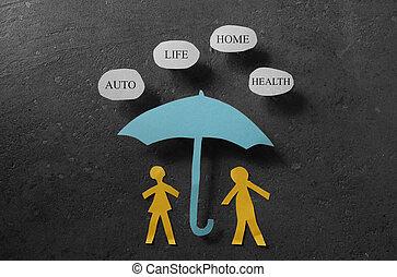страхование, охват, концепция