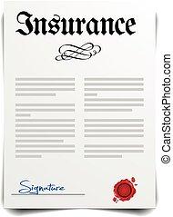 страхование, письмо