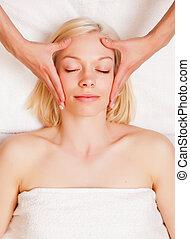 стресс, уменьшить, глава, массаж