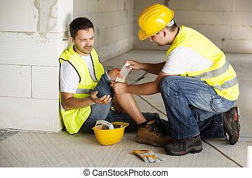 строительство, авария