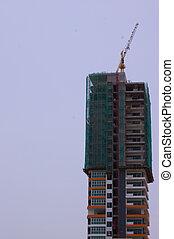 строительство, в, прогресс