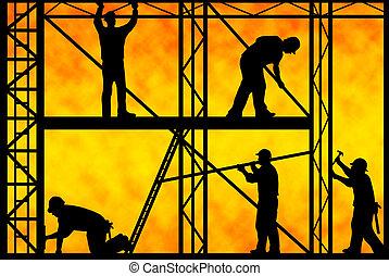 строительство, workers