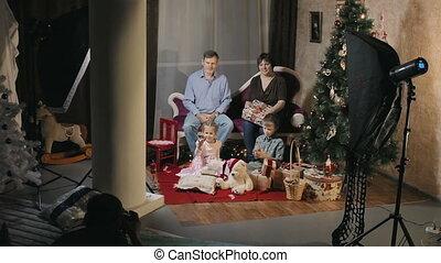 студия, за кулисы, рождество, до