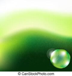 сфера, задний план, стакан, зеленый