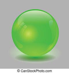 сфера, зеленый