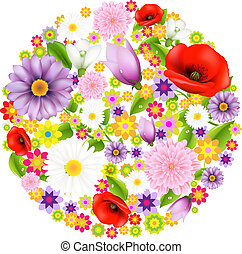 сфера, цветы