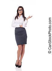 счастливый, бизнес-леди