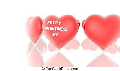 счастливый, день, валентин, s