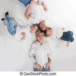 счастливый, семья, круг