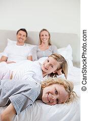 счастливый, семья, принятие, , отдых