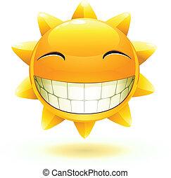 счастливый, солнце, лето