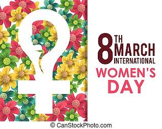 счастливый, womens, день, дизайн