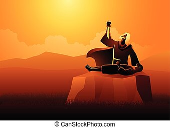 сын, his, sacrificing, авраам