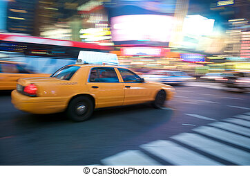 такси, новый, йорк, город
