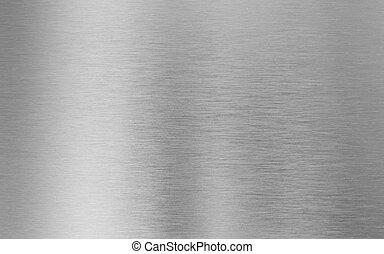 текстура, металл, серебряный, задний план