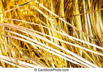 текстура, and, details, of, золотой, металл, strips, или, мишура