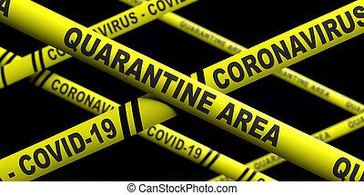 текст, предупреждение, площадь, coronavirus, иллюстрация, covid19, stripes, карантин, background., 3d, желтый