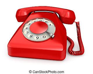 телефон, красный