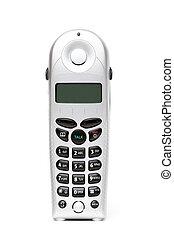 телефон, над, белый, беспроводный