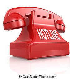 телефон, hotline, красный