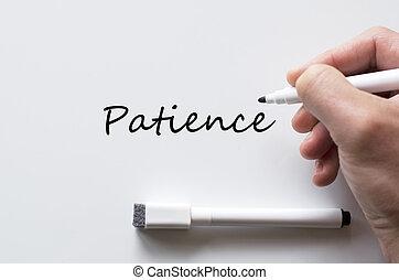 терпение, написано, белая доска
