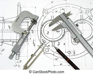 технический, инжиниринг, инструменты, рисование