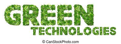 технологии, зеленый