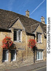 типичный, cotswolds, houses