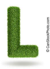 трава, натуральный, l, письмо