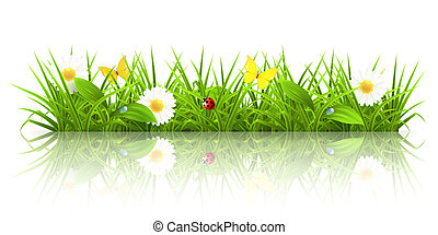 трава, 10eps, зеленый