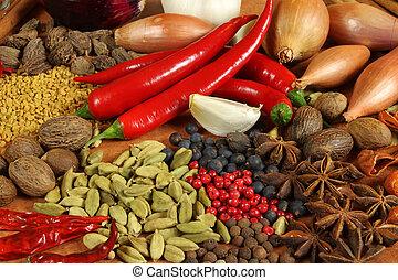 травы, spices