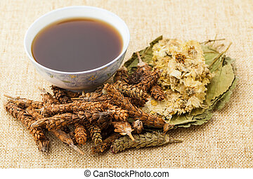 травяной, лекарственное средство, китайский, ингредиент