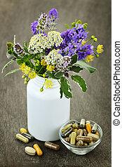 травяной, лекарственное средство, plants