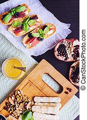 традиционный, итальянский, antipasto