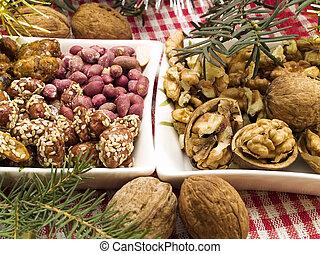 традиционный, рождество, питание