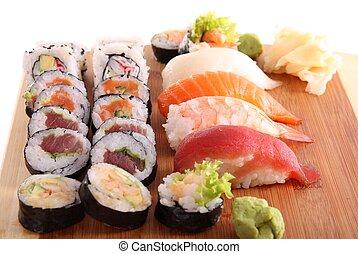 традиционный, японский, питание