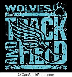 трек, поле, wolves