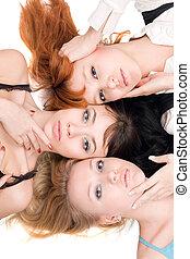 три, красивая, женщины