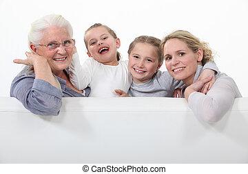 три, поколения, of, женщины