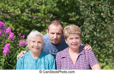 три, поколения, of, семья