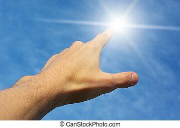 трогать, солнце