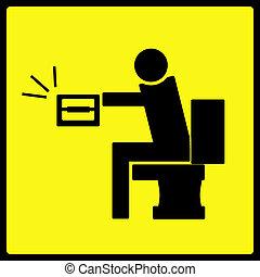 туалетная бумага, знак