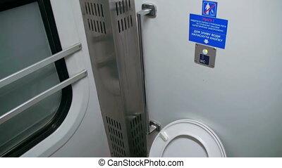 туалет, в, поезд, перевозка