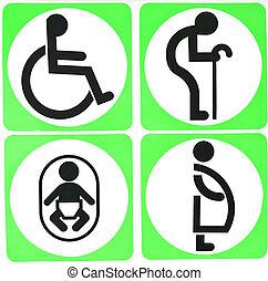 туалет, знак